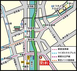 釣新 近隣地図